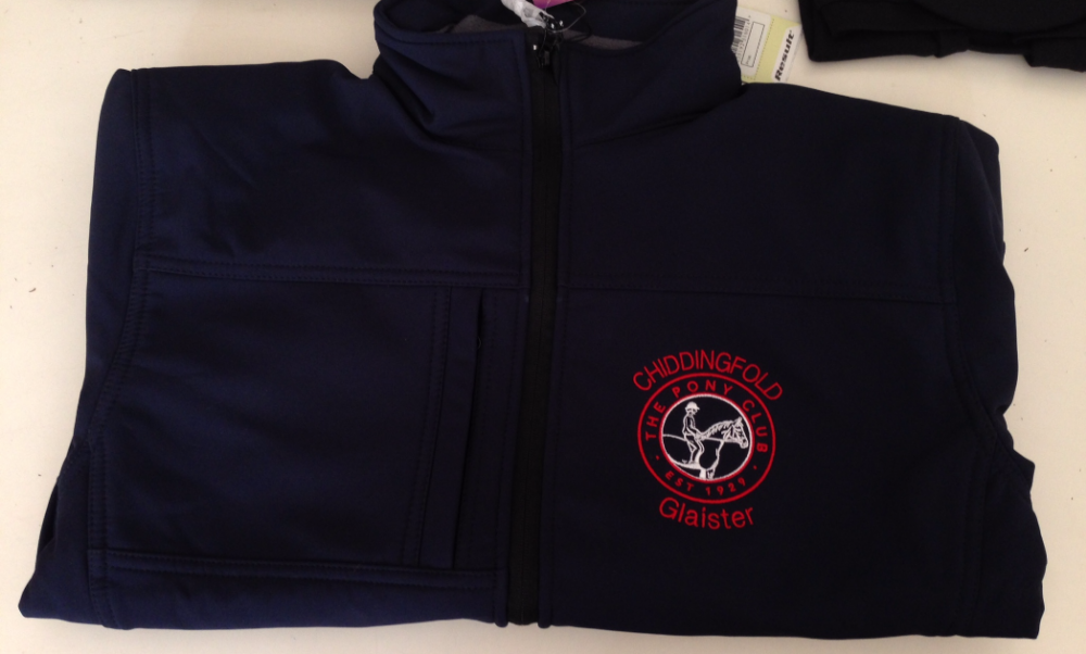 Children's Chiddingfold PC Navy Classic Softshell 3 layer jacket.